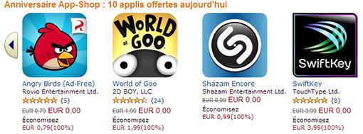 Amazon App-Shop applications gratuites