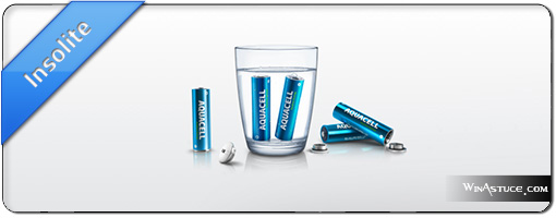 Aquacell – Une pile écologique qui se recharge à l'eau