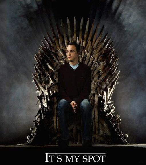 Sheldon Cooper nouveau roi de Games of Thrones