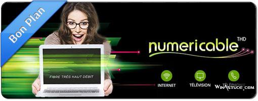 Offre spéciale – Forfait fibre Numericable à partir de 4,99 €/mois !
