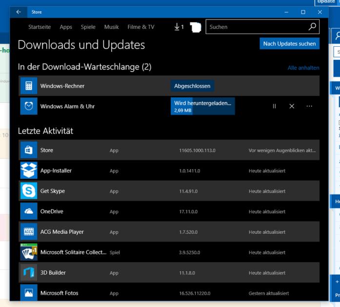 Windows Store download size feedback.