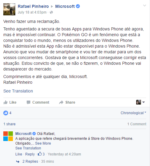 sdfseddsafds Microsoft Portugal says Pokemon Go is coming to Windows phones