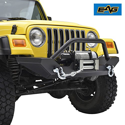Car & Truck Exterior Parts Rock Crawler Front Bumper w/LED Lights & D-Rings for Jeep Wrangler TJ 1997-2006