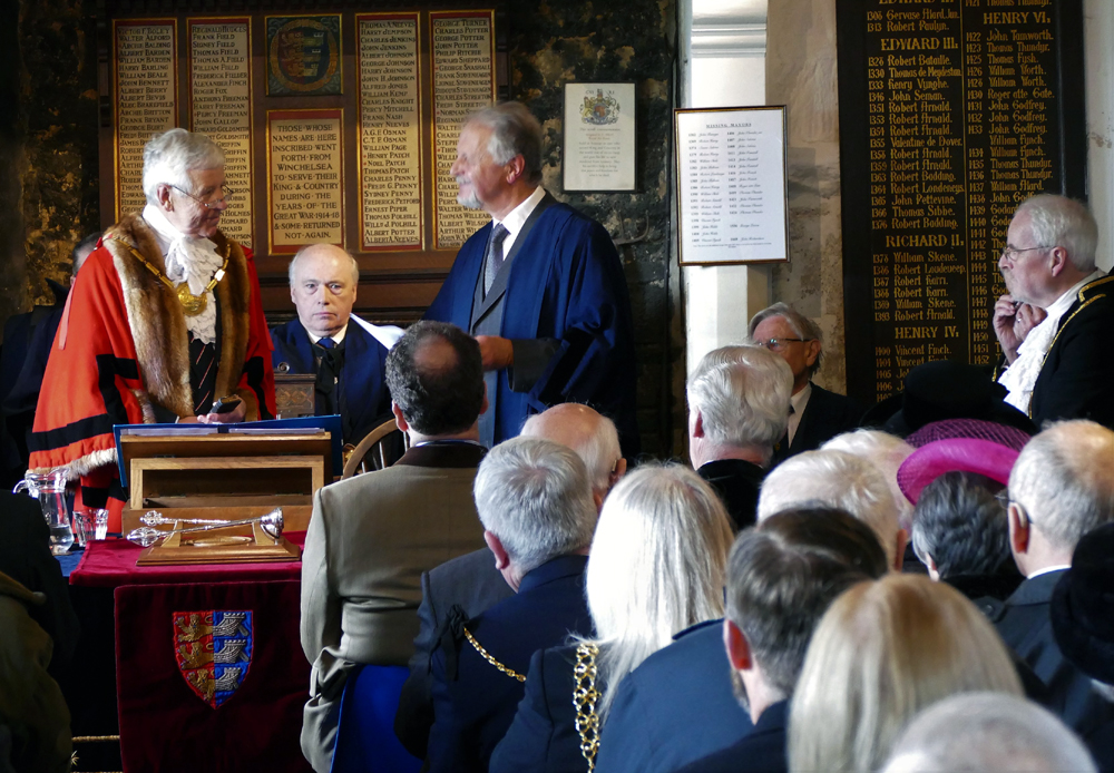 John Rodley takes the oath as Mayor - Easter Monday 2018