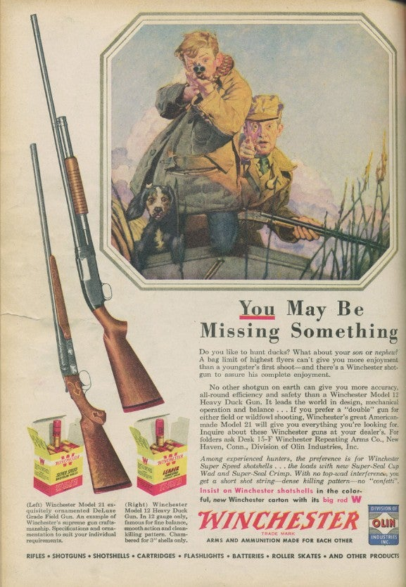 New and Vintage Winchester Advertisements