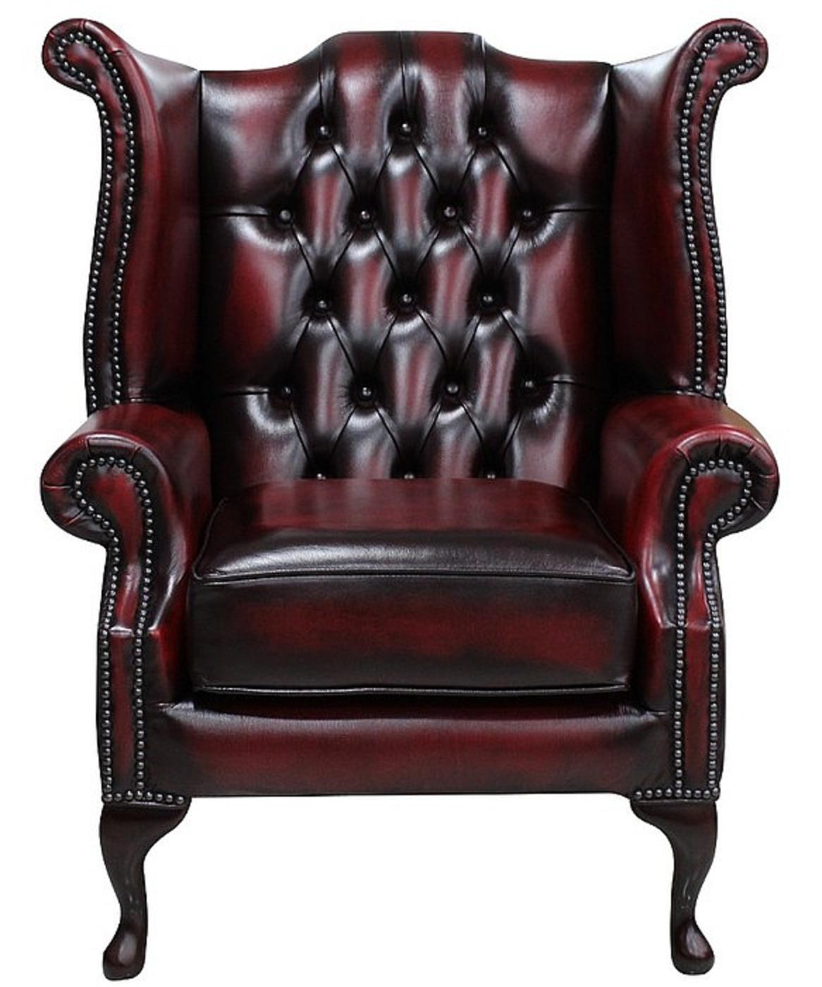 wingback chair uk beach towels with pocket for lounge chesterfield queen anne high back wing manufactured antique oxblood plain