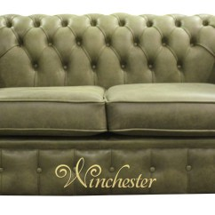 Sage Green Leather Sofa Cheap Black Suites Chesterfield 2 Seater Settee Selvaggio