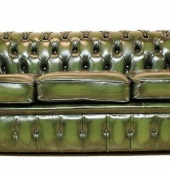 Deep Sofas Best Slipcovers For Chesterfield 3 Seater Antique Green Leather Sofa Offer