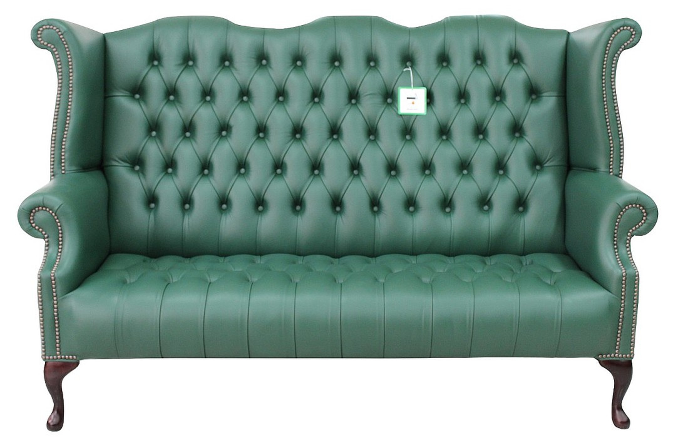 high back chesterfield sofa gus modern sleeper green 3 seater wing designersofas4u queen anne buttoned seat bottle leather