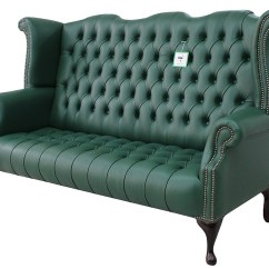 High Back Sofa And Loveseat Mahjong Copy Green Chesterfield 3 Seater Wing Designersofas4u Queen Anne Buttoned Seat Bottle Leather