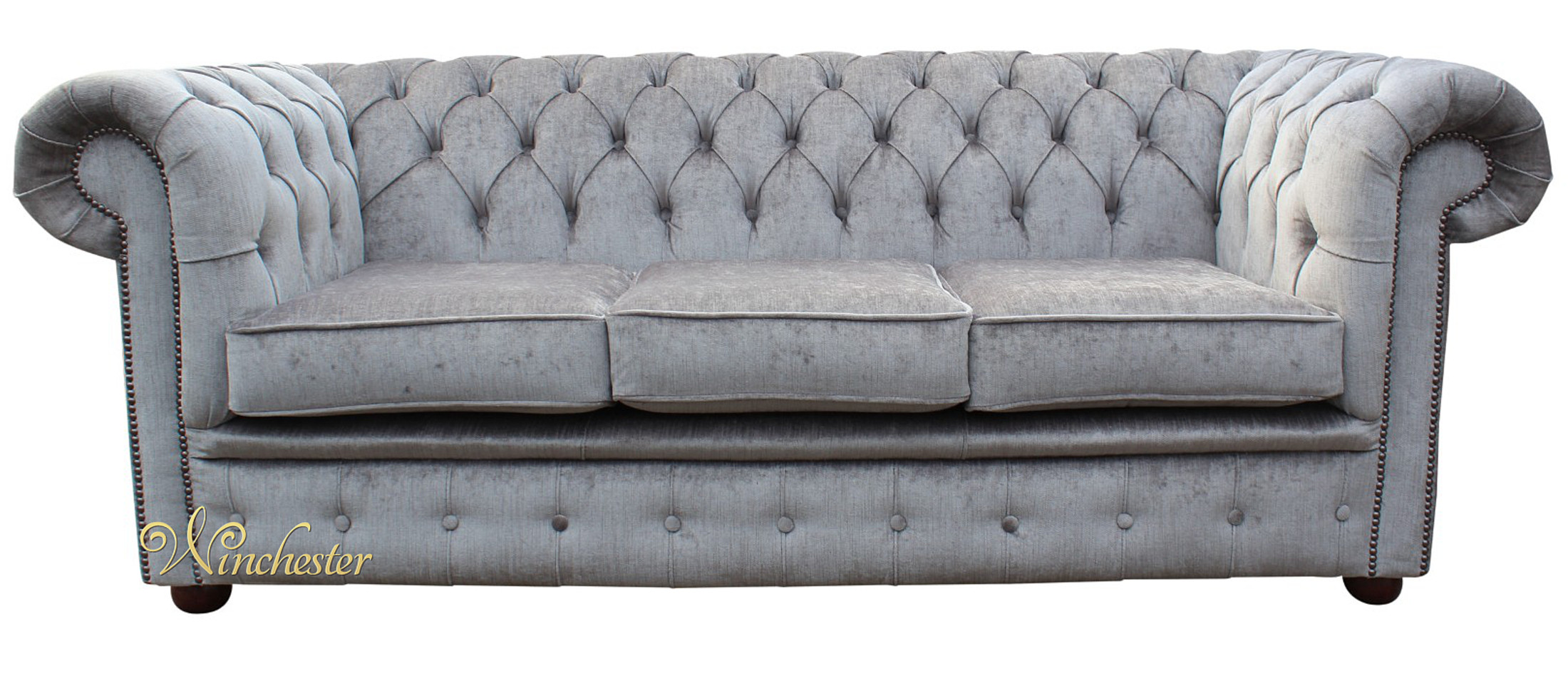 Chesterfield Grey Sofa Grace Chesterfield Linen Fabric