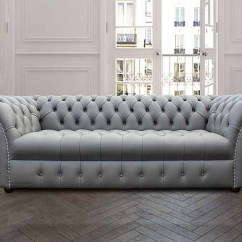 Grey Leather Sofas And Chairs Mitc Gold Reese Sleeper Sofa Chesterfield Balmoral 3 Seater Settee | Designersofas4u