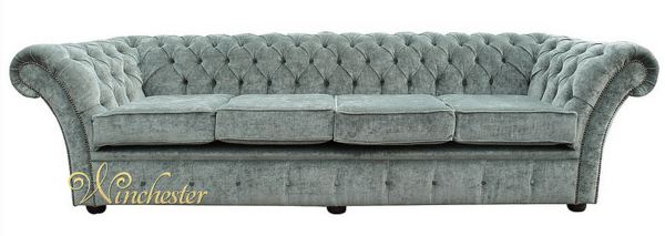 chesterfield sofa material traditional leather sofas cambridge 4 seater settee velluto lawn fabric