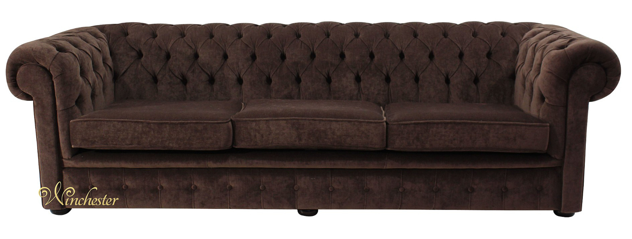brown fabric sofa ashley axiom leather reviews chesterfield 4 seater settee pimlico chocolate offer thomas wc