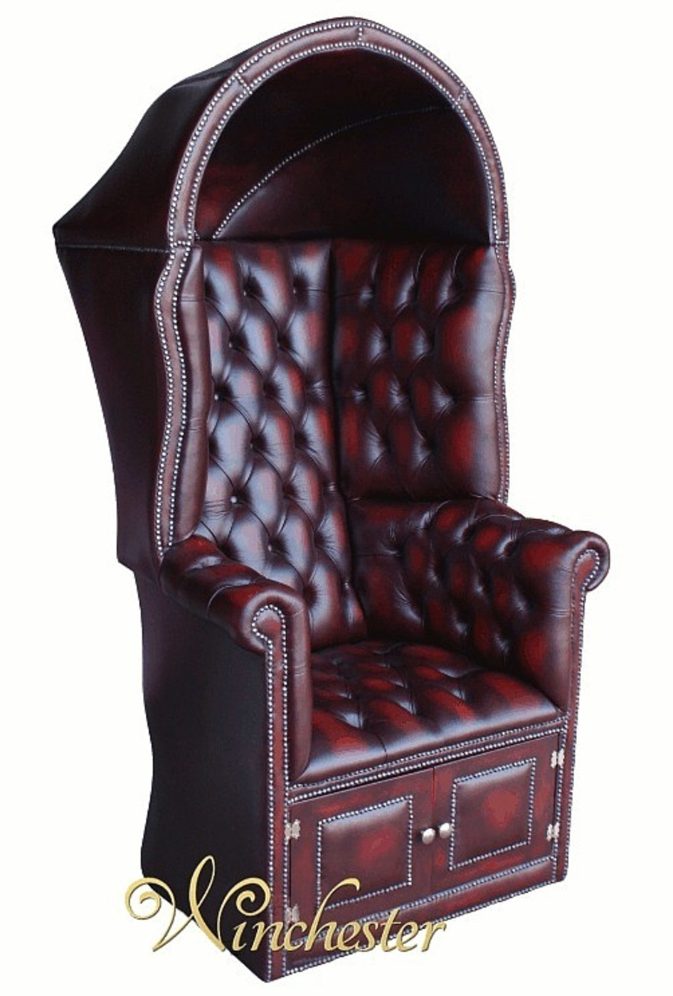 oxblood leather wing chair cool gaming chesterfield porter s antique uk manufactured porters armchair wc