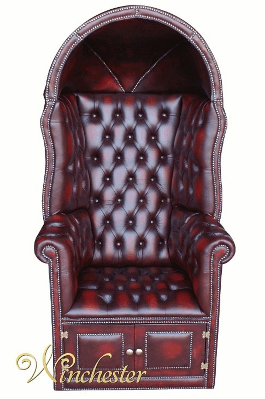Chesterfield Porters Chair Antique Oxblood UK