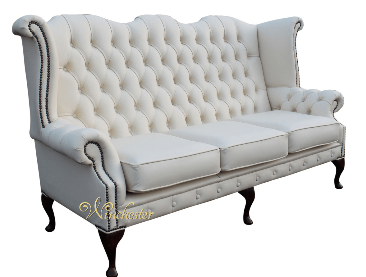 high back chesterfield sofa frames wholesale 3 seater queen anne wing chair uk