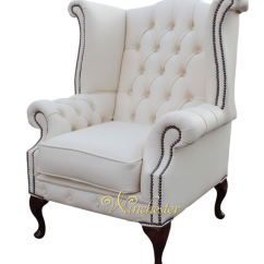 White Chesterfield 3 Seater Sofa How To Use Click Clack Bed Chatsworth Queen Anne High Back Wing Chair Uk ...