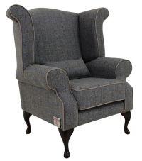 Chesterfield Edward Wool Tweed Wing chair | DesignerSofas4U