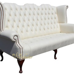 High Back Chesterfield Sofa Cheap Sofas And Loveseats Newby 3 Seater Queen Anne Wing