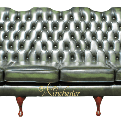 Sofas Direct From Factory Uk Motorized Reclining Sofa Chesterfield 4 Seater Queen Anne High Back Wing Manufactured Antique Green Leather Wc