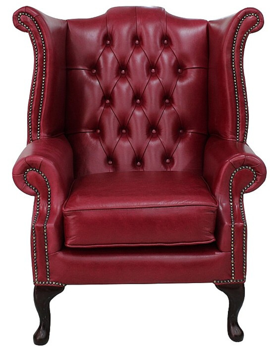 Gamay Chesterfield Queen Anne High Back chair