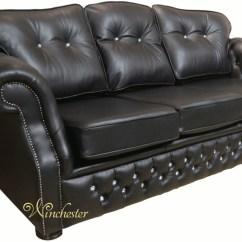 3 Seater Sofa Black Leather Best Sofas Under 1000 Era Swarovski Settee Traditional Chesterfield Wc