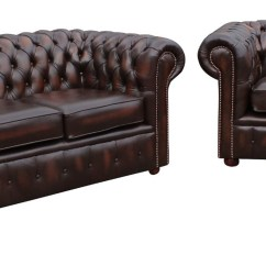 Chesterfield Sofa London Second Hand Austin 3 2 Leather Suite Offer Antique Brown Seater