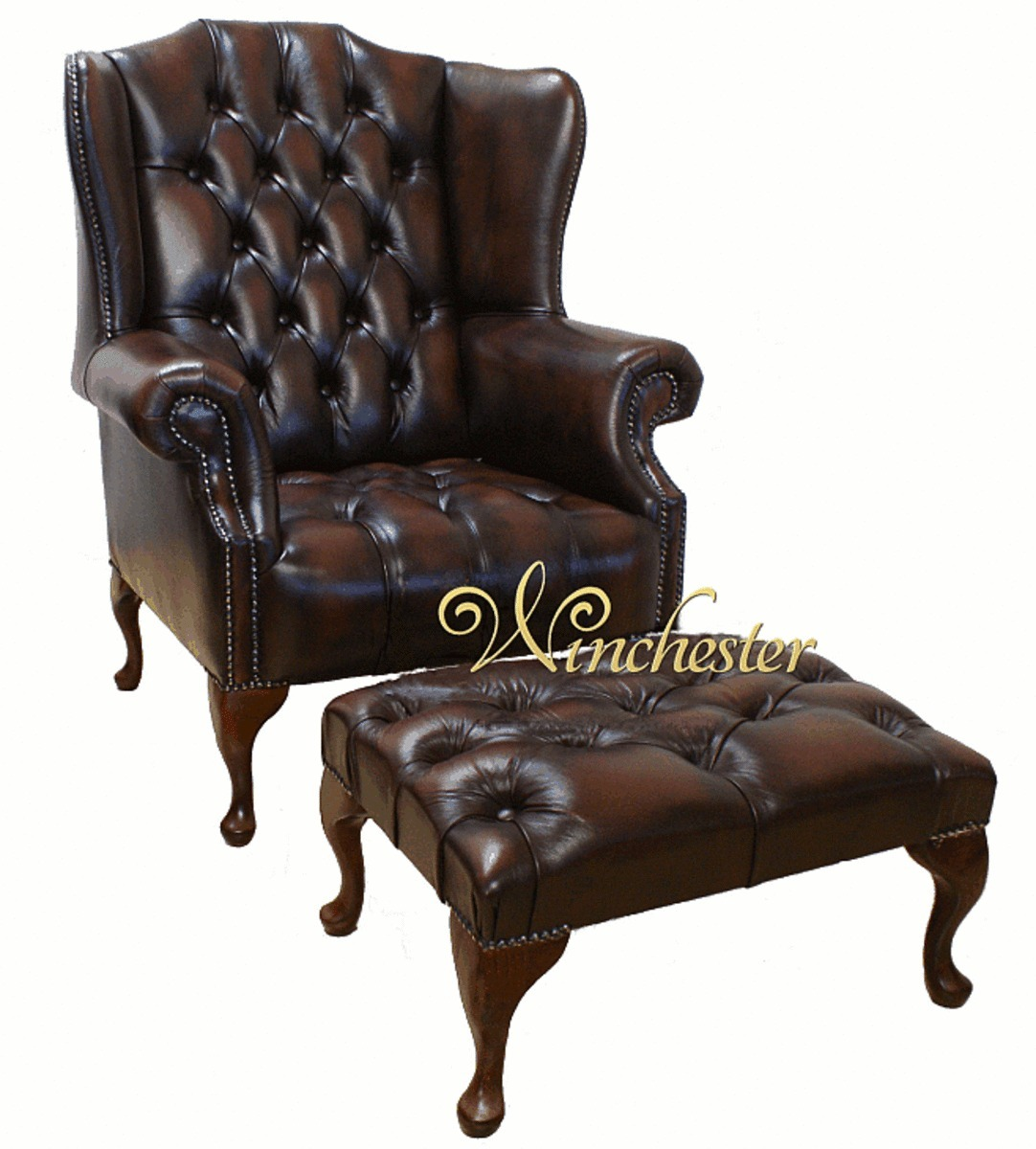 high back chesterfield sofa harveys 3 seater leather recliner mallory buttoned seat flat wing queen anne