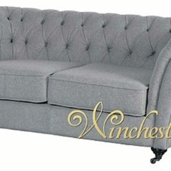Fabric Chesterfield Sofa Bed Uk How To Decorate With A Dark Brown Leather Grey 2 Seater