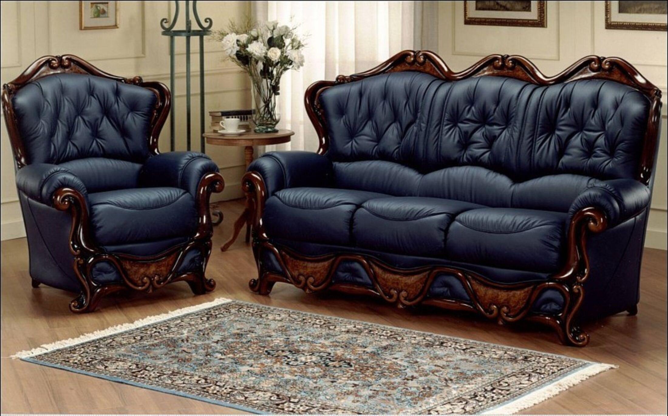 Dante 3 Seater + Armchair Italian Leather Sofa Settee