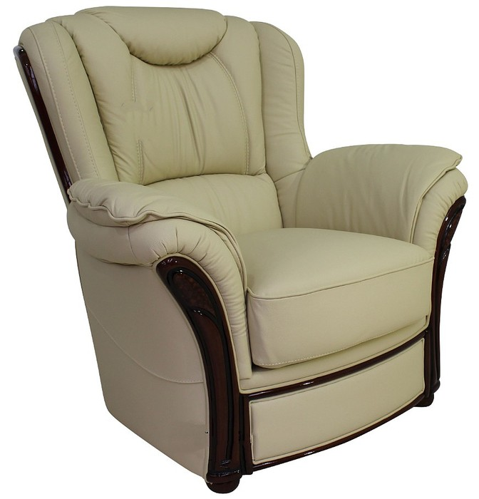 verona leather sofa reviews wood chair set genuine italian armchair cream