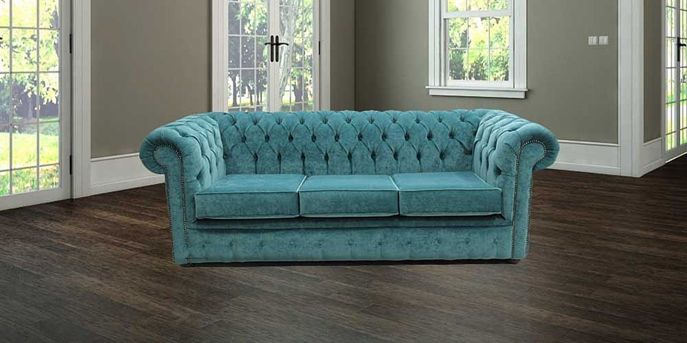 teal sofas sofa couch toronto blue velvet chesterfield designersofas4u 3 seater settee pimlico offer lo