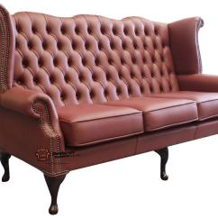 High Back Chesterfield Sofa Mission Style Sleeper Fabric Mallory Flat Wing Chair Royal Queen Anne Anemone Leather