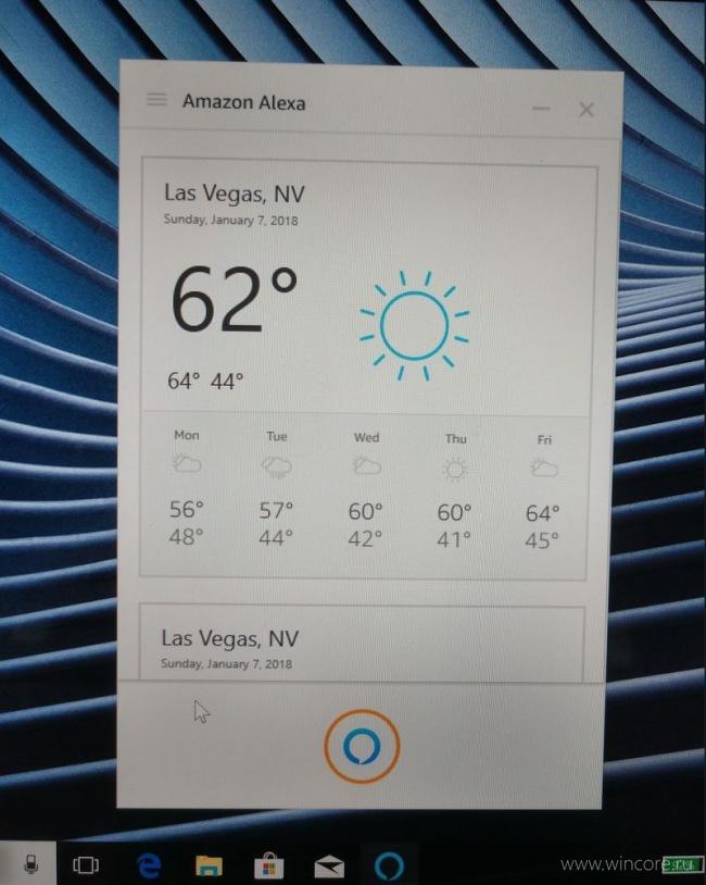 Alexa придёт на компьютеры с Windows 10