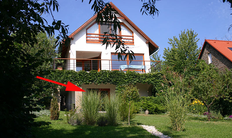 Apartment mit Panorama über den Balaton