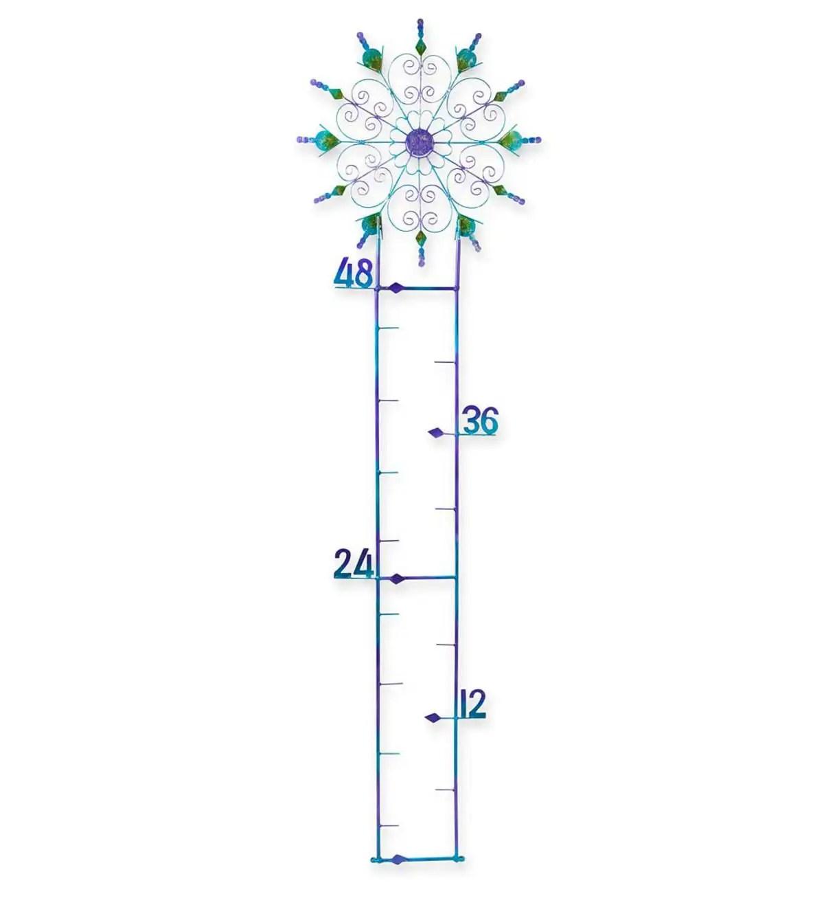 Blue Metal Snowflake Gauge