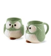 Ceramic Owl Mugs, Set of 2 | Housewares | Home Accessories ...