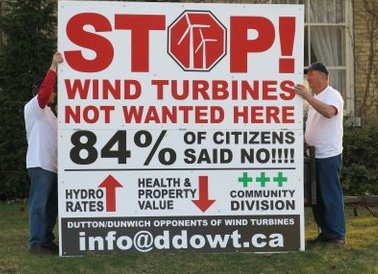 84% of Dutton-Dunwich citizens said NO to proposed wind farm