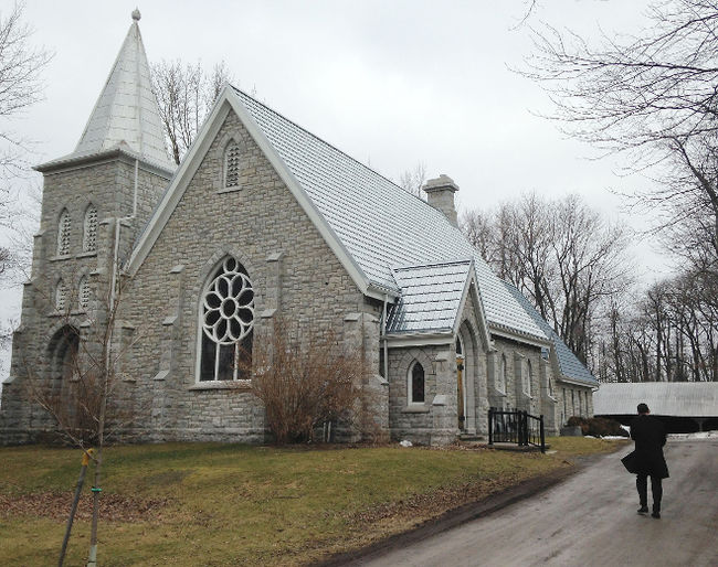 The 133-year-old St. Paul's Presbyterian Church on Amherst Island is the setting for this week's hearings by the Environmental Review Tribunal hearings for an appeal to the approval of a wind energy project on the island. (Elliot Ferguson/The Whig-Standard/)