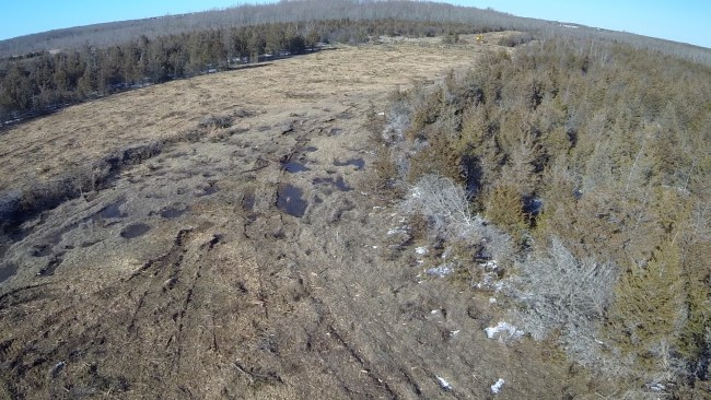 Devastation in Prince Edward County as power developer proceeded with unauthorized construction activity while approval under appeal. That appeal was eventually partially successful. [Photo: APPEC]