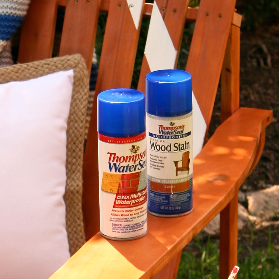 Thompsons WaterSeal Spray Stain and a Giveaway