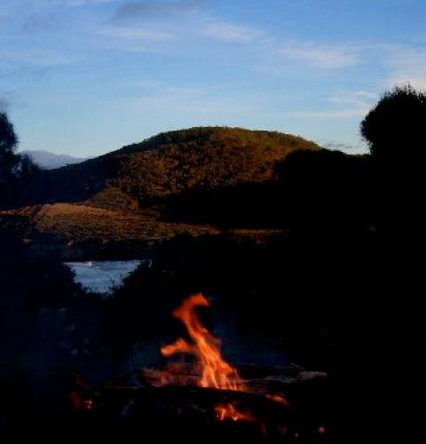 Peace fire dawn