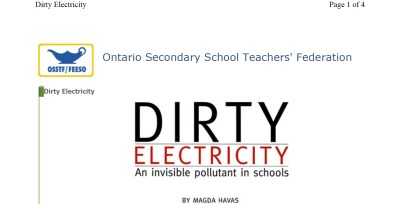 Dirty Electricity- An invisible pollutant in schools Havas