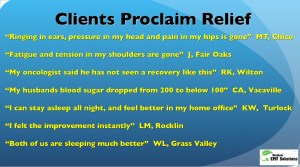 Clients Proclaim Relief