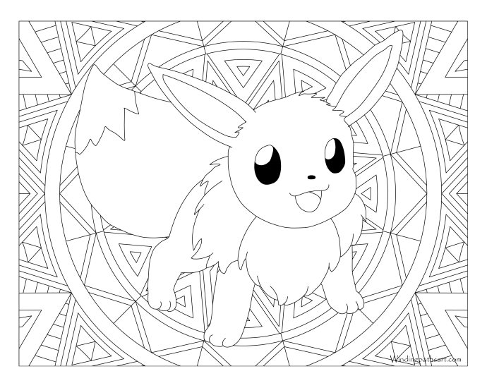 eevee pokemon coloring pages 133 Eevee Pokemon Coloring Page · Windingpathsart.com eevee pokemon coloring pages