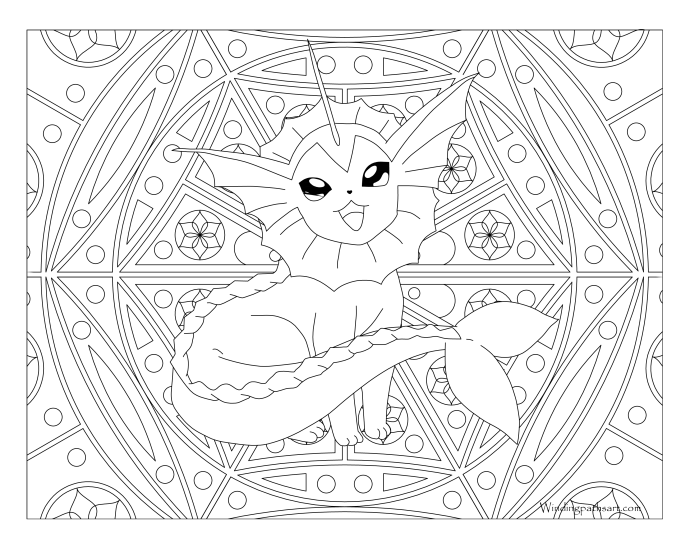 134 Vaporeon Pokemon Coloring Page 183 Windingpathsart Com