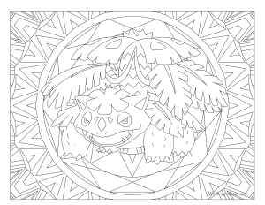003 Venusaur Pokemon Coloring Page