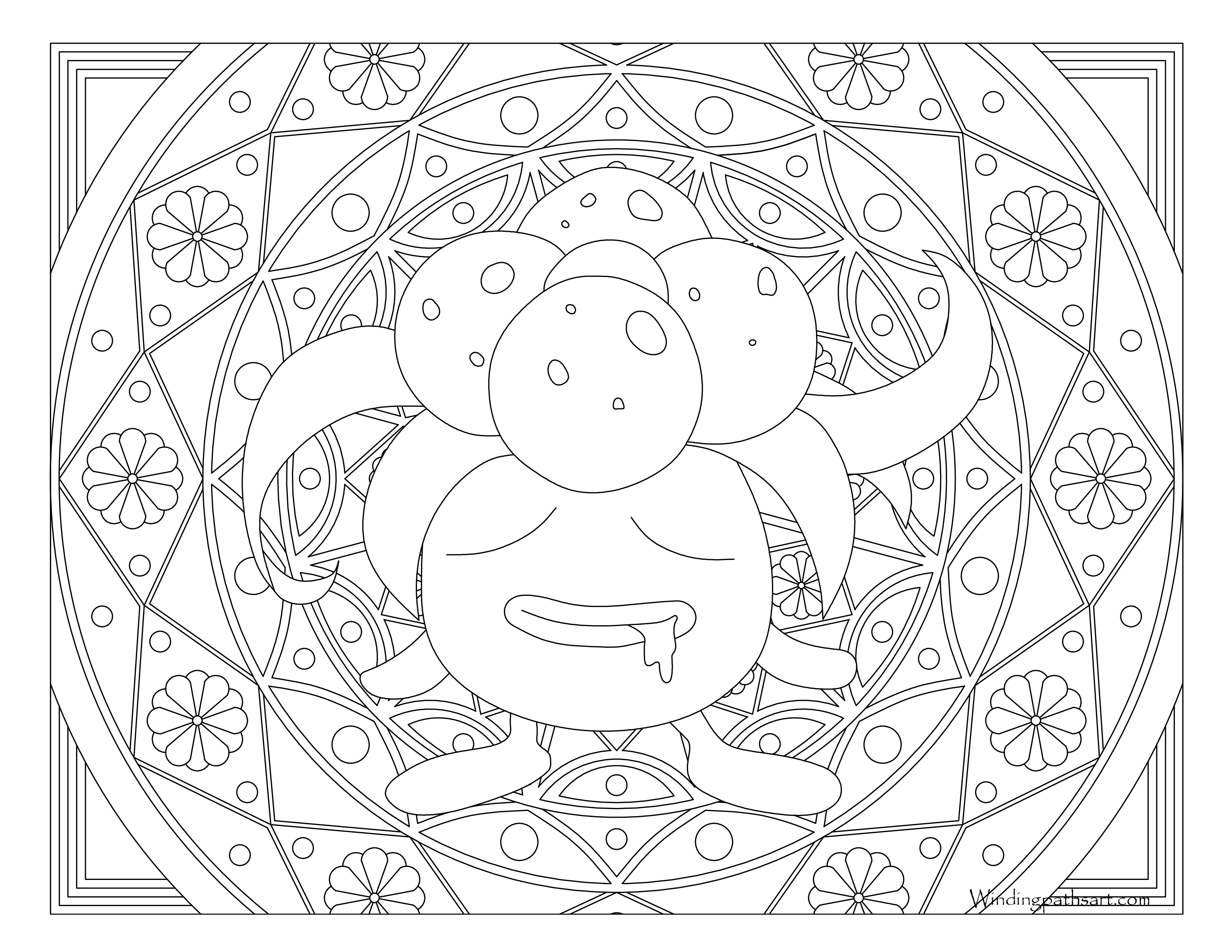pokemon gloom coloring pages - photo#13