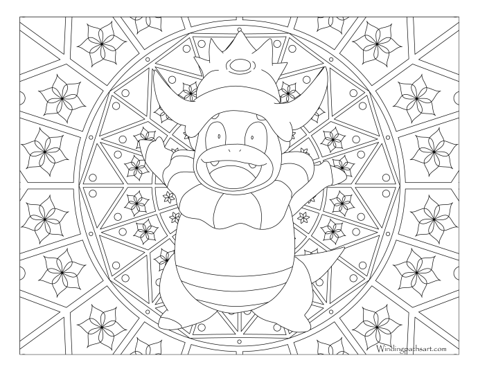 199 Slowking Pokemon Coloring Page